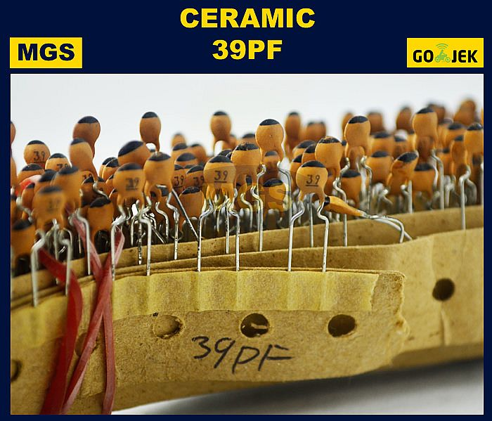 CAPACITOR CERAMIC 39PF 100PCS