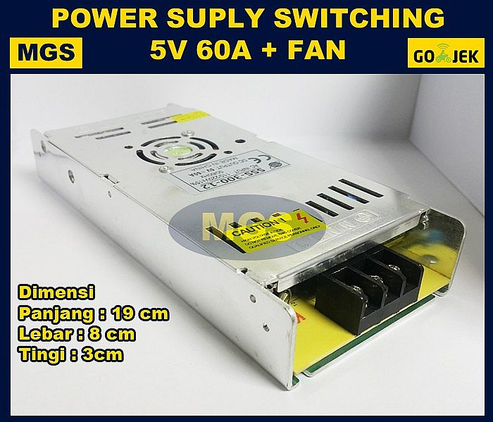 POWER SUPPLY 5V 60A SLIM FAN