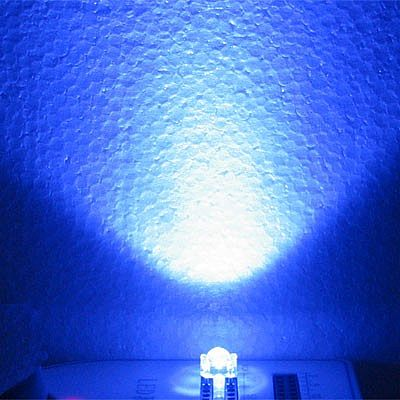 1000Pcs LED 3mm Superflux Putih Nyala Biru