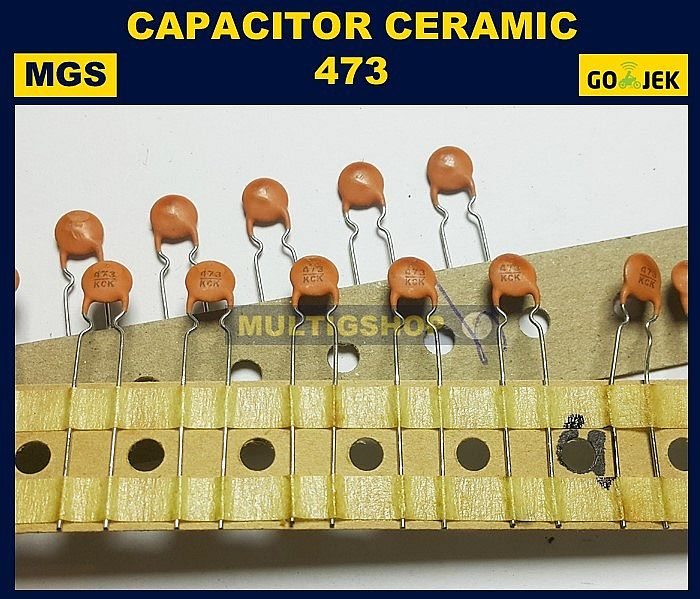 100Pcs Kapasitor Ceramic 472