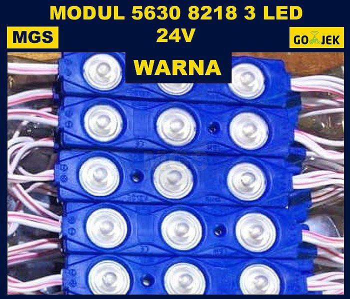 100Pcs Modul 8218 3 LED 24V Warna