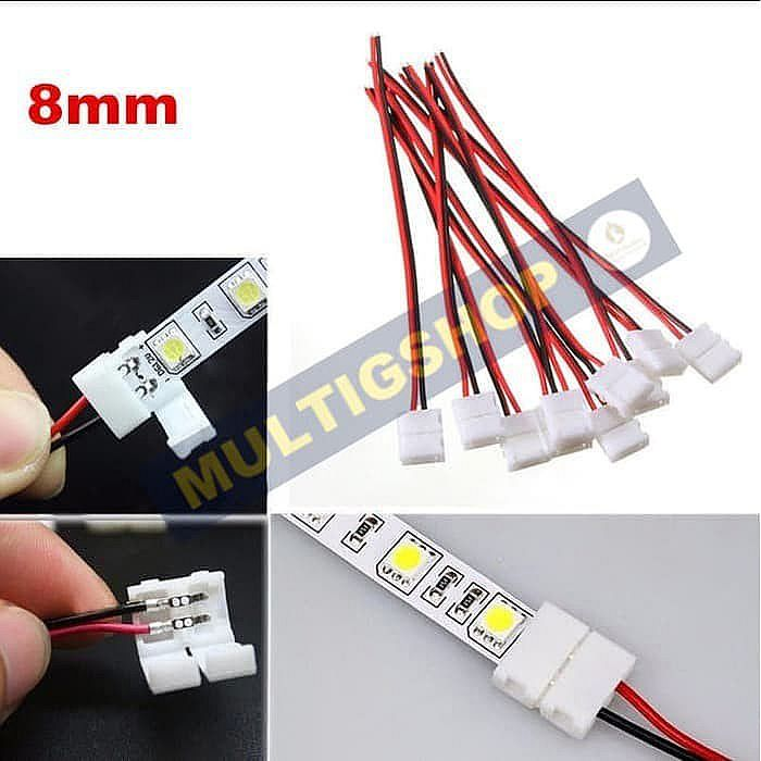 10Pcs Konektor LED Strip 2 Pin SMD 2835 3528 XD-2
