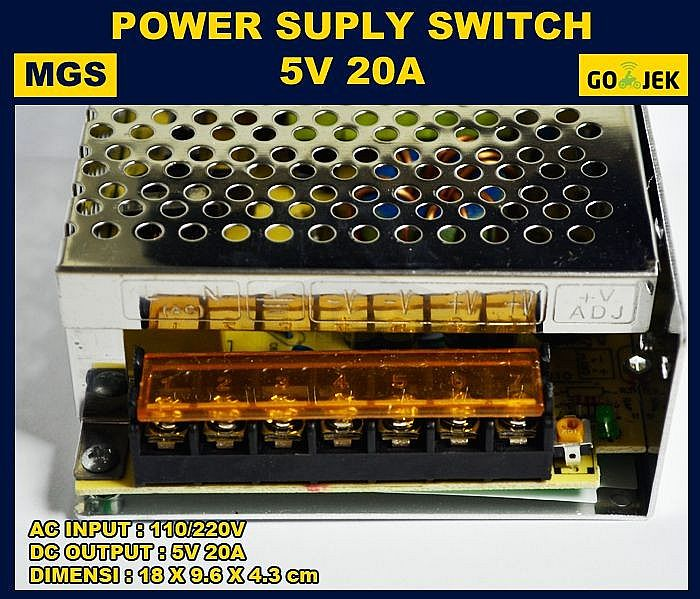 Power Supply Switching 5V 20A