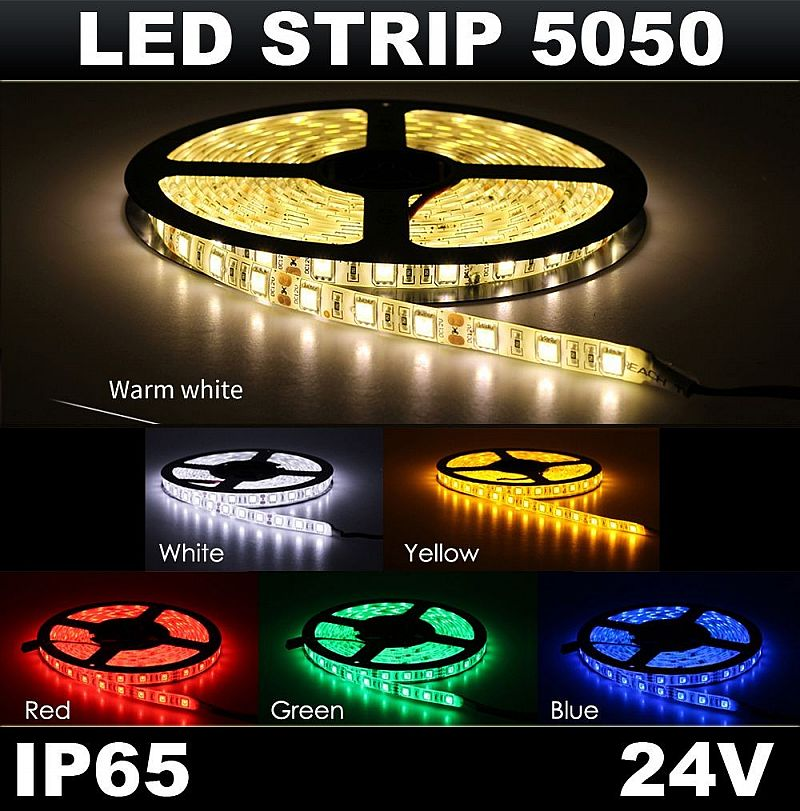 LED STRIP Flexible 5050 IP65 24V Mata Besar