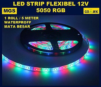 LED STRIP RGB 5050 IP 65 MATA BESAR 12V