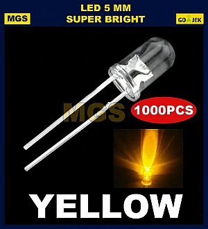 1000PCS LED 5MM SUPER BRIGHT KUNING