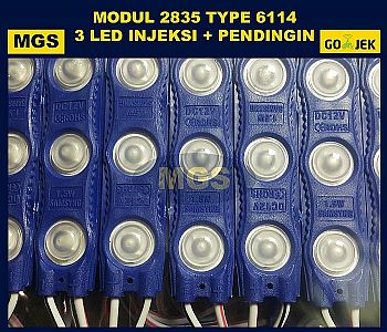 100Pcs Modul 2835 3 LED 6114 Warna 12V