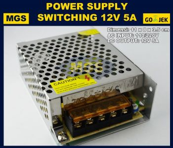 Power supply switching 12v 5A / adaptor cctv 5 ampere 12 volt taiwan