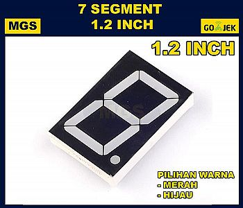 LED 7 Segment 1.2 inch Display 1.2inch Segmen Digit Merah Hijau 1.2