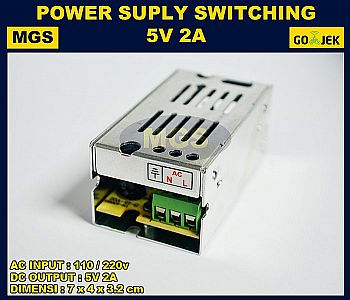 Adaptor 5V 2A Power Supply Switching LED Jaring 2 Ampere 5 Volt DC