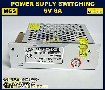 Adaptor 5V 6A Power Supply Switching LED Jaring 6 Ampere 5 Volt DC